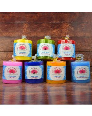 Energized Pillar Candle  (Combo Pack of 7 pc)