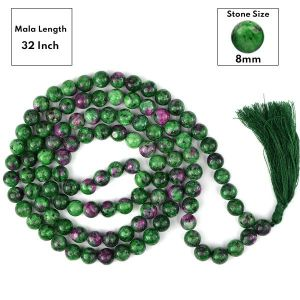 Ruby Zoisite 8 mm 108 Round Bead Mala