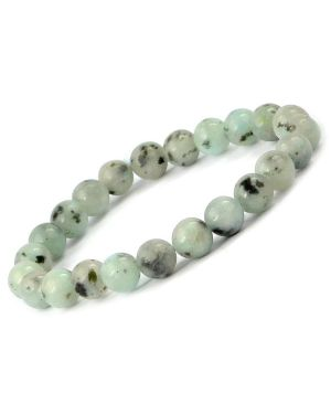 Moonstone 8 mm Round Bead Bracelet