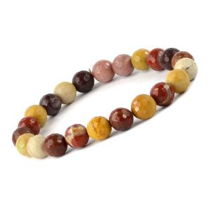 Mookaite Jasper 8 mm Faceted Bracelet