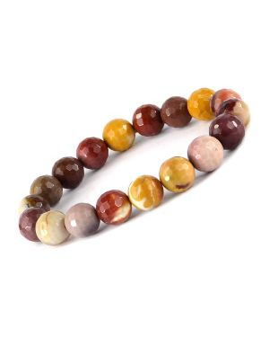 Mookite Jasper 10 mm Faceted Bracelet