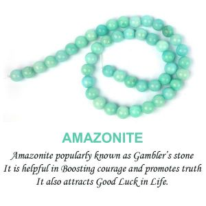 Amazonite 8 mm Round Beads For Jewelery Making Bracelet, Necklace / Mala