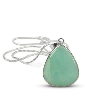 AAA Quality Amazonite Drop Pendant With Chain
