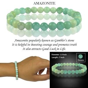 Amazonite 6 mm Round Bead Bracelet
