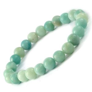AA Amazonite 6 mm Round Bead Bracelet