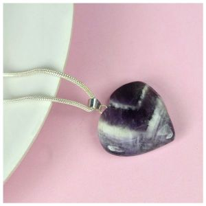 Amethyst Heart Shape Pendant - Size 25-30 mm approx