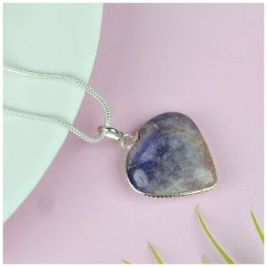 Amethyst Heart Shape Pendant - Size 30-35 mm approx
