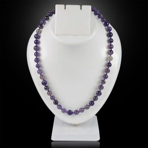 Amethyst 8 mm Round Bead Mala & Necklace (108 Beads & 32 Inch Approx)