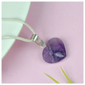 Amethyst Heart Shape Pendant - Size 15-20 mm approx