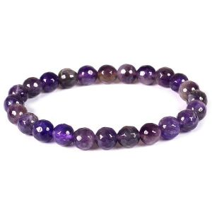 Amethyst 8 mm Faceted Bracelet