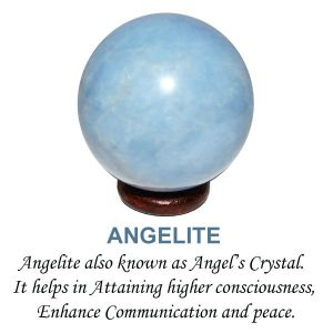 Angelite Ball / Sphere Size 40 mm Approx