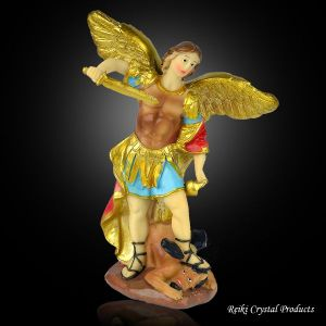 Vastu/Feng Shui Archangel Michael Statue | Religious Decoration Home Decor Showpiece 8 inch Approx (Color : Multi)
