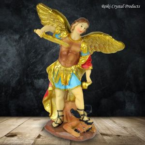 Vastu/Feng Shui Archangel Michael | Religious Decoration Home Decor Showpiece 6 inch (Color : Multi)