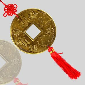 Car Decoration Hanging Accessories Feng Shui Hanging 5 Inch Coin for Car, Home