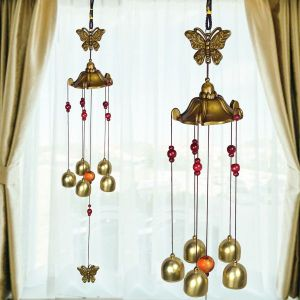 Fengshui Wind Chimes Home Positive Energy Windchimes Hanging 5 Bell for Home Decor