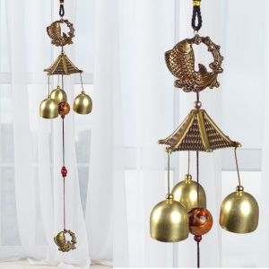 Fengshui Wind Chimes Home Positive Energy Windchimes Hanging 3 Bell