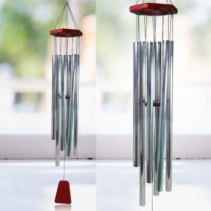 Fengshui Wind Chimes Home Positive Energy Wind Chimes Silver Hanging Pipe Wind Chimes for Home Decor