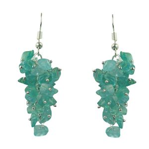 Apatite Earrings Natural Chip Beads Earrings for Women, Girls