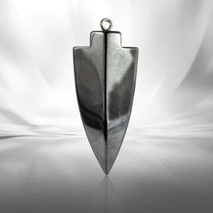 Hematite Crystal Stone Arrow Head Pendant