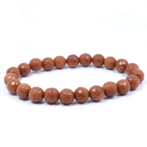 Goldstone Brown 8 mm Faceded Bracelet