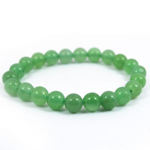 Green Jade 8 mm Round Bead Bracelet
