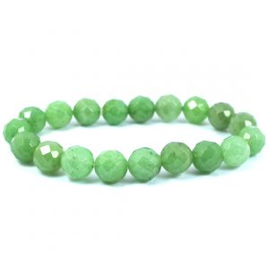 Green Jade Faceted 10 mm Bracelet