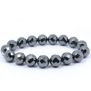 Hematite Faceted 10 mm Bracelet