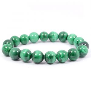 Malachite 10 mm Round Bead Bracelet