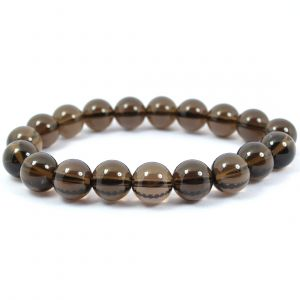 Smoky Quartz 10 mm Round Bead Bracelet