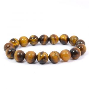 Tiger Eye 10 mm Round Bead Bracelet