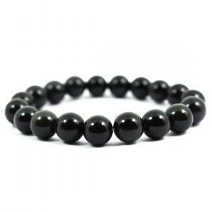 Black Onyx 10 mm Round Bead Bracelet