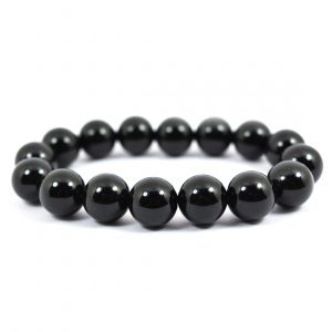 Black Onyx 12 mm Round Bead Bracelet