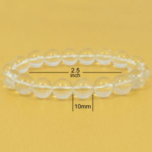 Clear Quartz 10 mm Round Bead Bracelet