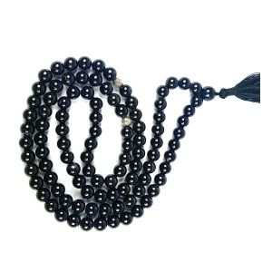 Black onyx Natural Crystal Tasbeeh Stone Tasbeeh for Muslim Prayer 8 mm 99 Beads Jap Mala