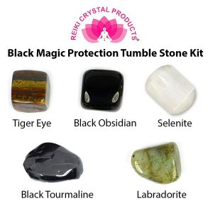 Black Magic Protection Tumble Stone Kit