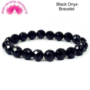 Black Onyx Faceted 10 mm Bracelet
