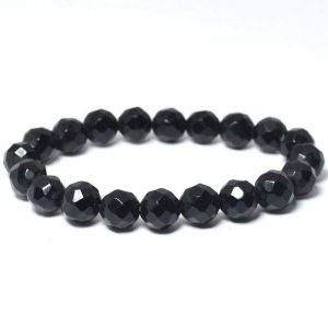 Black Onyx 8 mm Faceted Bracelet