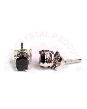 Black Onyx Silver Stud/Earring Gemstone for Women Girls