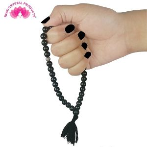 Tasbeeh  8 mm 33 Beads Jap Mala-Black onyx