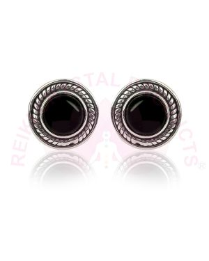 Black Onyx Gemstone Studs/Earrings 92.5 Sterling Silver Stud/Earring for Women Girls