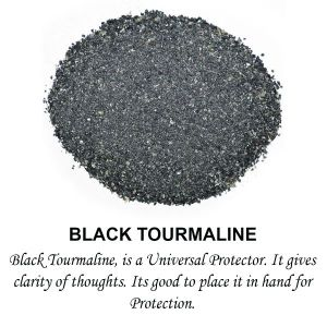 Black Tourmaline Crystal / Stone Dust / Chura