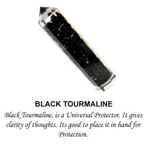 Black Tourmaline Orgone Jumbo Pencil