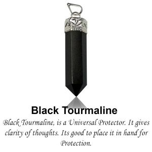Black Tourmaline Crystal Pencil / Obelisks