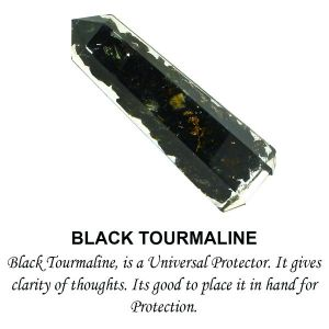 Black Tourmaline Orgone Pencils 8 cm