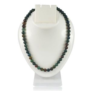 Blood Stone 8 mm Round Bead Mala & Necklace (108 Beads & 32 Inch Approx)