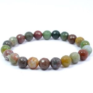 BloodStone 8 mm Faceted Bracelet