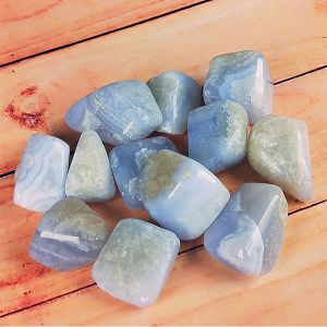 Natural Blue Lace Agate Tumble Stone