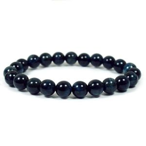 Blue Tiger Eye 8 mm Round Bead Bracelet