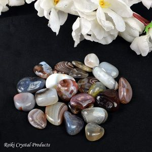 Natural Botswana Agate/Sulemani Hakik Tumble Stone for Reiki Healing and Crystal Healing Stone