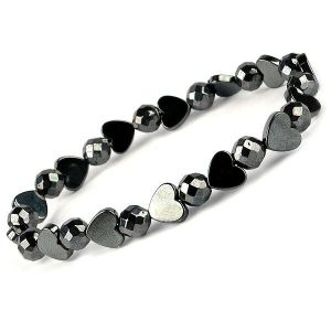 Natural Hematite Bracelet  (Color : Silve & Grey)